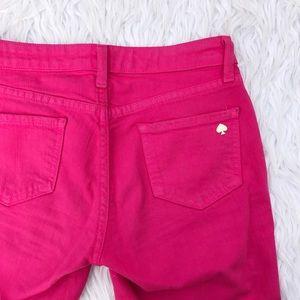 Kate Spade pink Broome Street Jeans